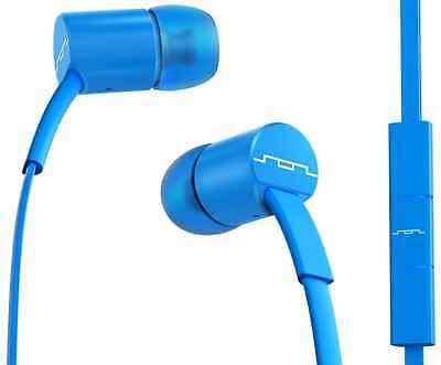 SOL Republic Jax In Ear Electro Blue Tangle Free Headphones Remote Microphone
