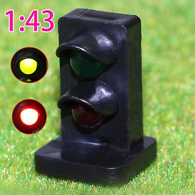 JTD431GR 5PCS O scale LEDs made Dwarf Signals for Railway signal 2 Aspects