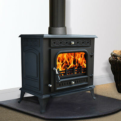 13KW MultiFuel WoodBurning Stove WoodBurner Cast Iron Log Burner Fireplace