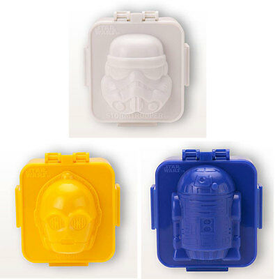 Star Wars: Character Shaped Plastic Egg Shaper / Mold - C-3PO/Stormtrooper New