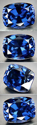 SOMPTUEUX SAPHIR VERNEUIL CORNFLOWER BLUE 16 x 14mm .IF..17,93cts
