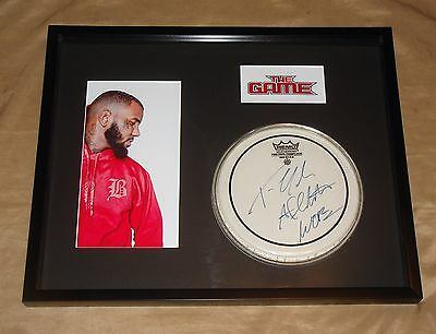 """Rapper The Game Jayceon Taylor Signed 8"""" Drumhead FRAMED into 16x20 COA"""