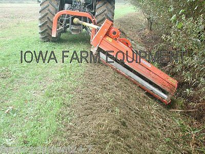 "Flail Ditch Bank Mower: Maschio Giraffa 185SI 75"" Cut, 60HP+, Adjust On The Fly!"