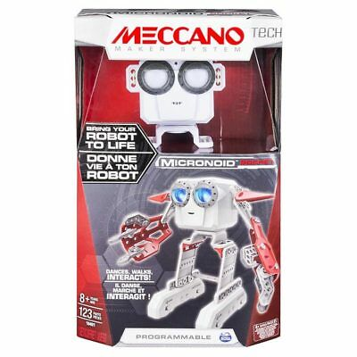 MECCANO Tech Micronoid Red Socket Interactive Dancing Robot Spinmaster 6027338