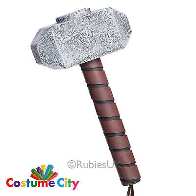 Official Adults Marvel Avengers Thor Hammer Fancy Dress Costume Accessory