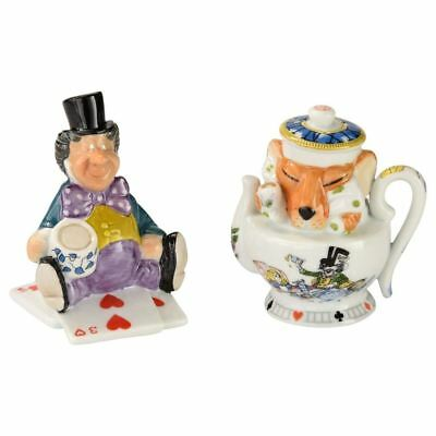 Official Cardew Alice in Wonderland Mad Hatter and Dormouse Salt and Pepper Set
