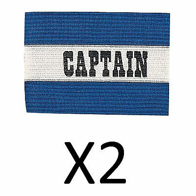 Champion Sports Youth Soccer Captains ARM Band Redblue Blue CYP-BLU (2-Pack)