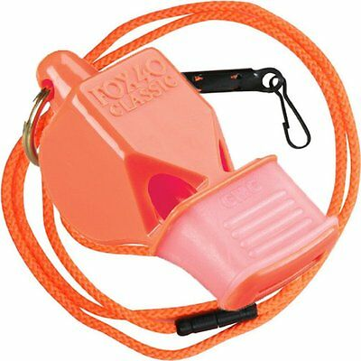 Fox 40 Classic CMG Whistle With Lanyard Referee-Coach, Safety Alert-Orange