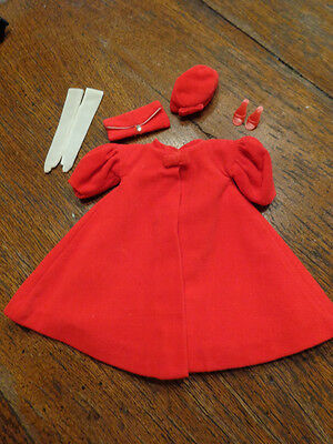 Vintage Barbie Red Flare Outfit Complete And Nm