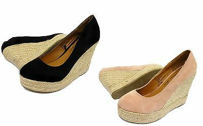 24x Ladies Womens High Heel Wedge Summer Court Shoes Wholesale Job Lot Clearance