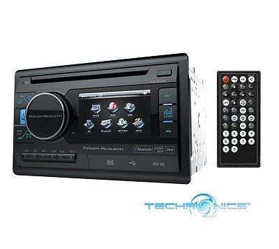 """Power Acoustik Pd-342B In-Dash 3.4"""" Lcd Double Din Bluetooth Dvd Cd Car Stereo"""
