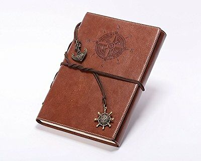 Valery Classic Leather Notebook Refillable Vintage Writing Journal Diary Line...