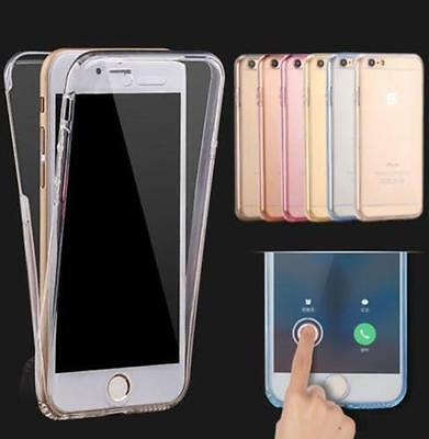 Transparent Clear Silicone Slim Gel Case Screen Protector for iPhone 6S 6 6+ SE