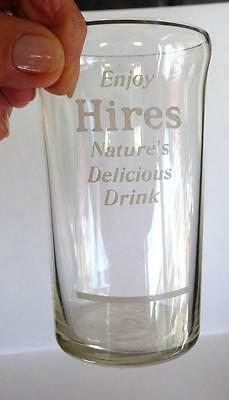 Early 1900's Enjoy Hires, Syrup Line Glass. NATURE'S DELICIOUS DRINK.