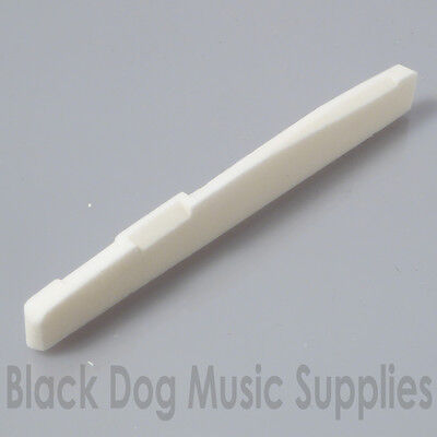 Bone compensated acoustic guitar saddle / bridge white 74mm  x 3mm  (11.6 high)