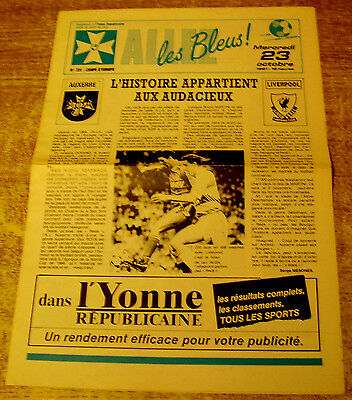 1991/92 UEFA CUP 2ND ROUND - AUXERRE v  LIVERPOOL - 23 OCTOBER 1991
