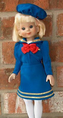 Rare 4pc Royal Blue Sailing Yachting Boating Sailor outfit fit 14in Betsy McCall