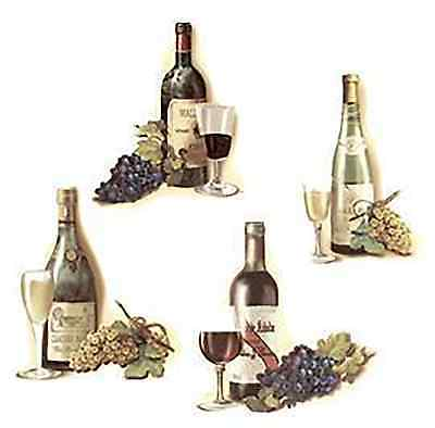 Wine Bottle Grape Cluster Select-A-Size Waterslide Ceramic Decals Xx