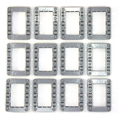 Lego Technic Grey Studless Beam Frames Boxes #3 - 12 Parts - 64179 4539880 - NEW