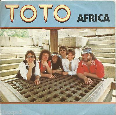 """TOTO - Africa - VINYL 7"""" 45 ITALY 1983 NEAR MINT COVER VG+ CONDITION"""
