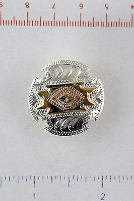 "1"" Zuni Concho - Silver, Gold & Bronze Plate - Screwback"