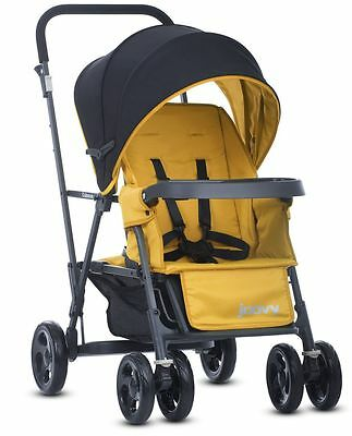 Joovy Caboose Graphite Double Stand On Twin Tandem Stroller Amber NEW 2016
