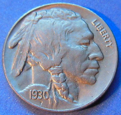 1930 S Buffalo Head Nickel Uncirculated Mint State Original US Coin #5787