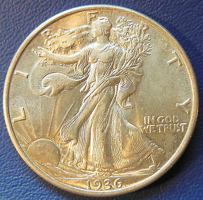 1936 Walking Liberty Half Dollar Uncirculated High End Mint State MS Coin #6480