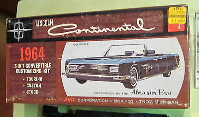 AMT 1964 Lincoln Continental Convertible Annual 3-in-1 Kit # 6414 in Box 64