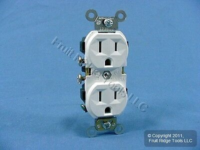 Leviton White COMMERCIAL Receptacle Outlet 15A 5014-WSP