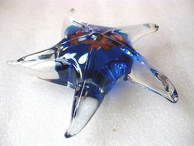 PAPERWEIGHT STARFISH GLASS  H/BLOWN possibly MURANO ? VGC