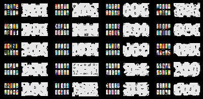 Reuseable Airbrush Nail Art Stencil 320 DESIGNS - 20 Template Sheets Kit Set 4