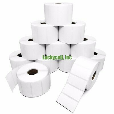 9 Rolls 2x1 Direct Thermal Labels - 1300/roll Zebra LP2824 LP2422 LP2844 ZP450
