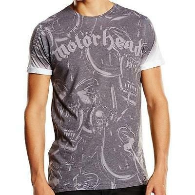 Motorhead - War Pig Repeat Sublimation Short Sleeve T-Shirt - New & Official