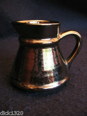 VINTAGE PRINKNASH ABBEY POTTERY TAPERED JUG in BRONZE LUSTRE c.1960's EX