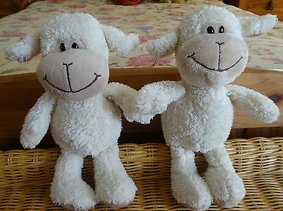 KINDER Soft Toy Plush Adorable Sheep/Lambs x 2 11""