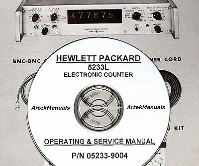 Hewlett Packard Operating & Service Manual for the 5233L Electronic Counter