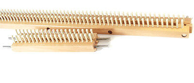 """Kb 28"""" 70cm Knitting Board Loom With Peg Extenders To Create 168 Total Pegs"""