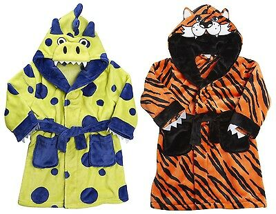 MiniKidz Childrens Supersoft Dressing Gown with Hood & Removable Tail