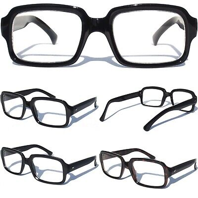 8c755b4bec1 CLEAR LENS GLASSES NERDY SEXY RETRO MODERN HIPSTER SQUARE STYLE FRAME Eye  Wear