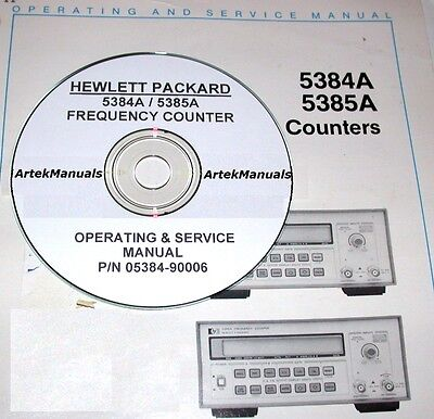 Hewlett Packard Operating & Service Manual for the 5384A 5385A Frequency Counter