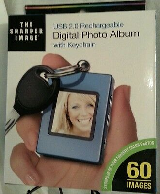 New Digital Photo Album - With Keychain  Rechargeable Shaper Image Great Gift