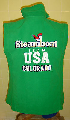 "Steamboat Springs Vest Colorado USA Team Skiing Embroidered Fleece 34""chest New"