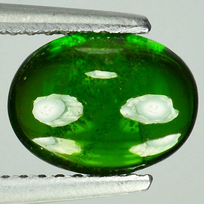 1.88 Cts Natural Forest Green Chrome Diopside Cabochon Russia Gem