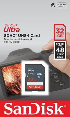 SanDisk 32GB Ultra Class 10 SD 48MB/s SDHC card