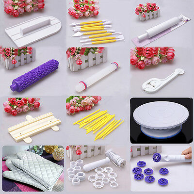 Cake Tool Cutters Fondant Sugarcraft Decorating Flower Modelling Turntable Mould