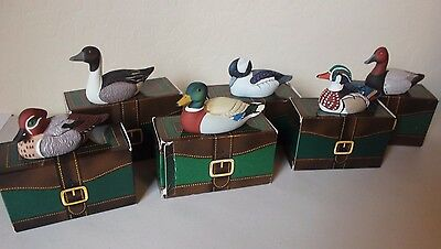 Vintage Avon Collector Duck Series - Set of 6 - Pintail Mallard Bufflehead Boxes