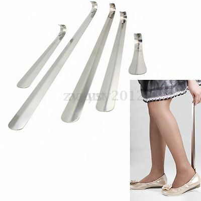 5 Sizes Stainless Steel Silver Professional Metal Shoe Horn Durable Long Handle