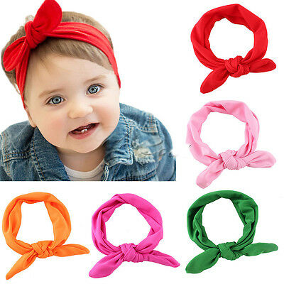 New Headband Ribbon Elastic Baby Headdress Kids Hair Band Girl Bow Knot