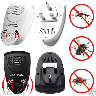 Magnetic Ultrasonic Electronic Pest Mouse Bug Mosquito Insect Repeller Uk Plug